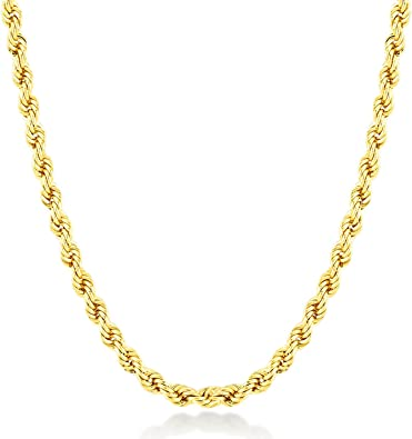"""24K Yellow Gold Plated Charm Chain Necklace Mens Girl  Xmas Birthday 45cm// 17/"""""""