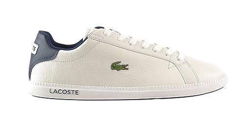 7d9bab297 Lacoste Graduate LCR SPM Leather Men s Shoes White Dark Blue 7-27spm1085x96  (13