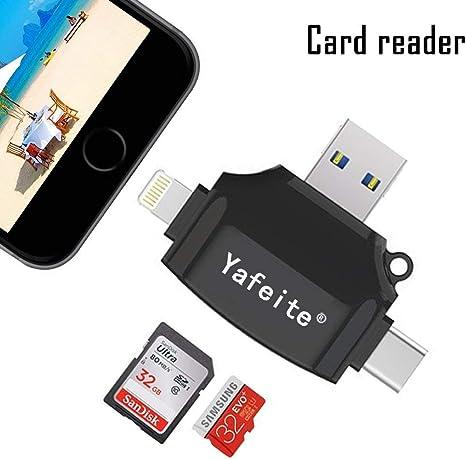 yafeite SD Tarjeta de Memoria Lector, USB, Micro SD/TF Lector de ...