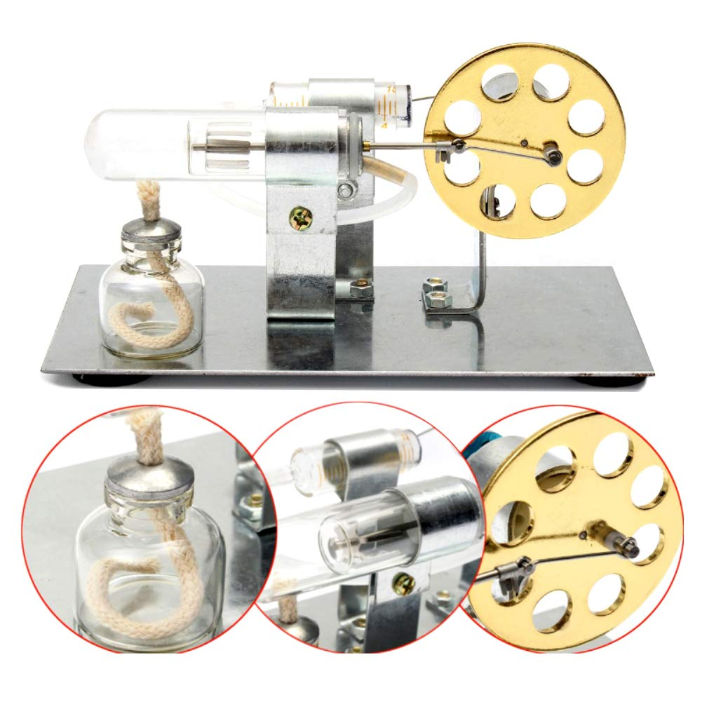 At27clekca Hot Air Stirling Engine Model Motor Steam Power Physics Toy Electric Generator