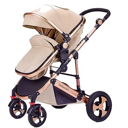 Puede sentarse para doblar la carretilla de bebé recién nacido, cochecito de bebé, carro