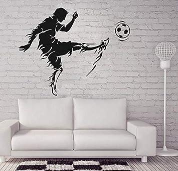 ttymei Calcomanía de pared de vinilo deportivo para sala de fútbol ...
