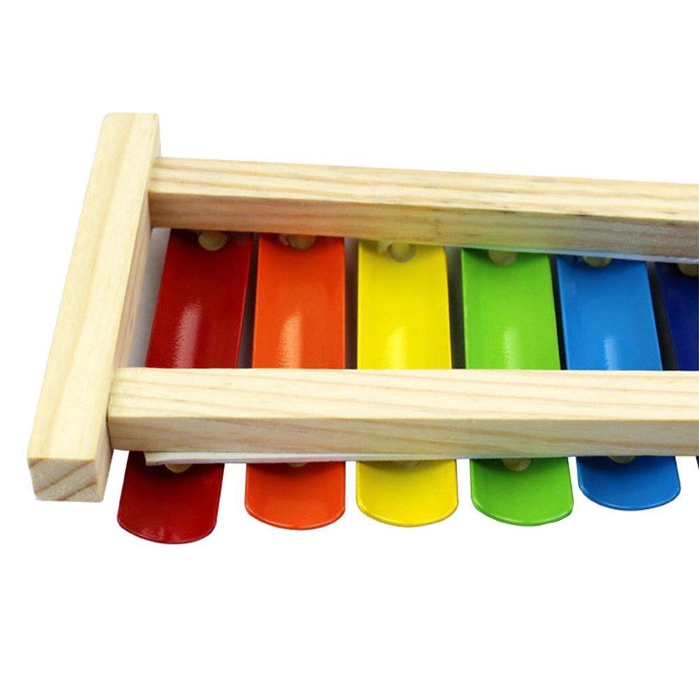 8 tasti Leisial xilofono giocattolo per bambini