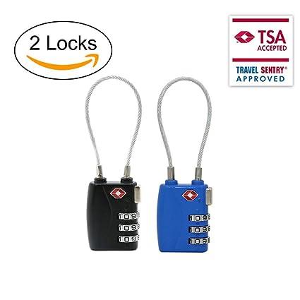 TSA Equipaje de bloqueo Master aprobado cerraduras de combinación mochila de viaje maleta candado (2