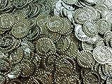 Belly Dance Hip Scarf Belt Beads Coins Beads Silver Brass King Tut Handmade (200) 413