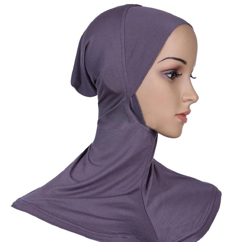 Thaibestus Under Scarf Hat Cap Bonnet Hijab Islamic Neck Cover Head Wear