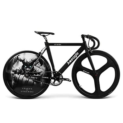 Huoduoduo Bicicleta, Bicicleta De Carretera, Luz LED Hyun Cool Rueda Trasera, Batería De