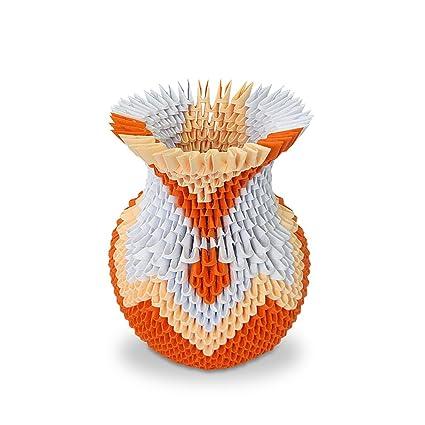 Amazon 3d modular origami flower vase handmade paper art 3d modular origami flower vase handmade paper art decoration mightylinksfo