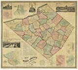 Berks County Pennsylvania 1860 - Wall Map with Homeowner Names - Old Map Reprint