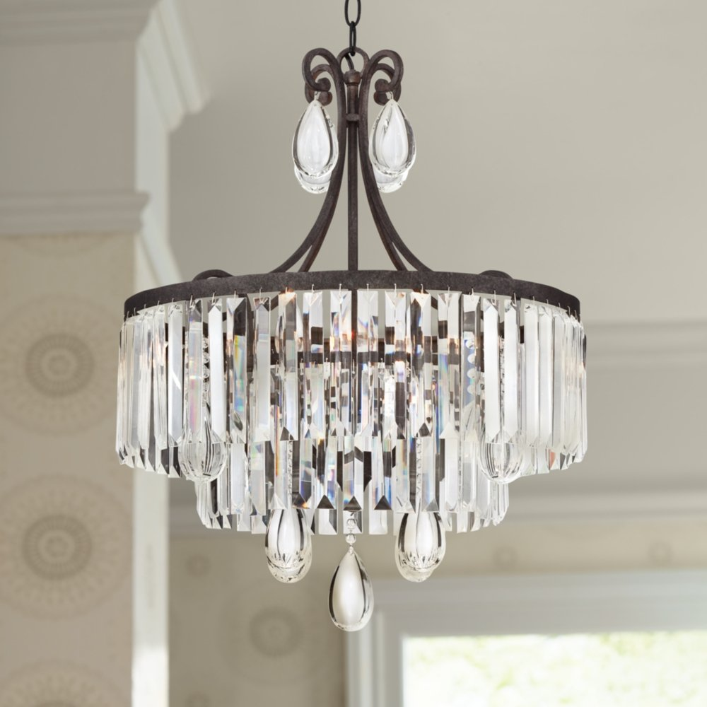 Luba 20 wide bronze crystal 4 light chandelier amazon aloadofball Image collections