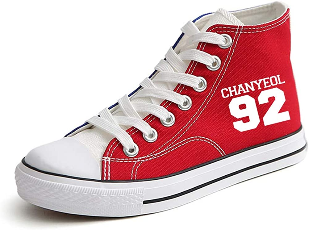 EXO Shoes Canvas Shoes Patchwork Lacing Shoes Stylish Lightweight Sneakers Unisex