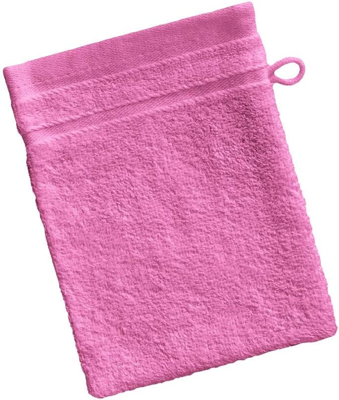 Barceló Hogar 05090020023 Manopla para baño, rizo americano, algodón 100%, malva, 15 x 20 cm: Amazon.es: Hogar
