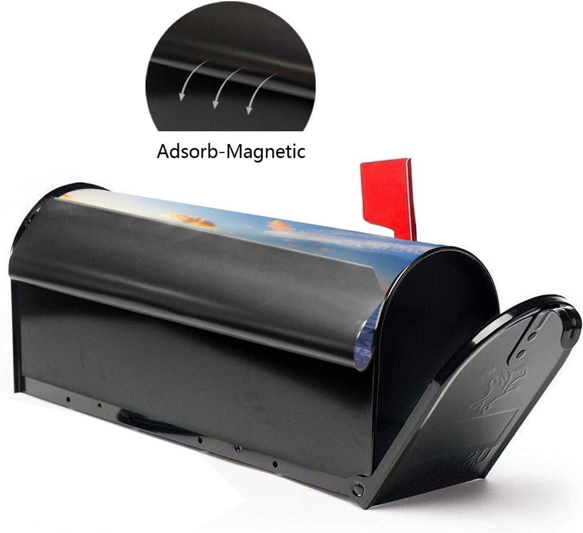 Mailbox Wraps Post Box for Garden Yard Outside Farmhouse Home Decor 21x18 Dadidyc Magnetic Size Mailbox Cover Beach Sea View
