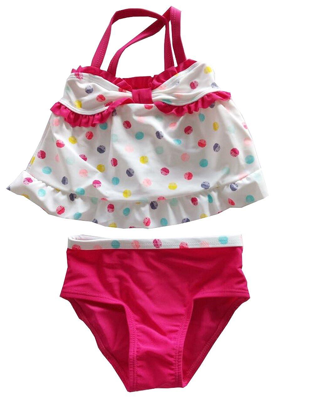 eKooBee Baby Little Girls Swimwear Two Piece Swimsuits Lemon Dot
