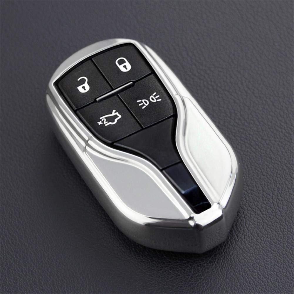 rcraftn ABS Cl/é de Voiture Soft Case TPU Couverture pour Maserati Ghibli Quattroporte Protection Cha/îne De Voiture /Él/égant Key Cover Case Accessoires Levante