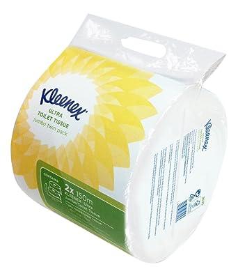 KLEENEX* ULTRA Papel Higiénico Jumbo 8573 - 12 rollos x 150 m de color blanco