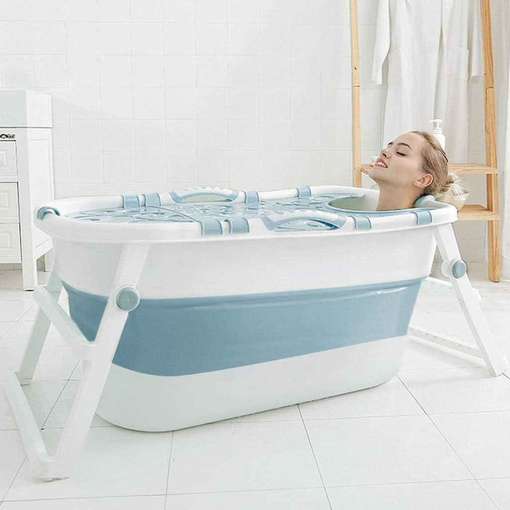 Grand Pliable Baignoire Adulte Baril De Bain Seau De Bassin De Douche Avec Couvercle Isolant Autonome Plastique /Épaissi Baignoire /À Drainage Facile