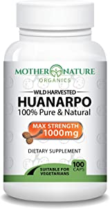 Madre Nature - Wildcrafted Huanarpo Powder Capsules - Max Strength 1000mg Per Serving - Male Enhancing Supplement Supports: Antioxidant, Anti-Inflammatory
