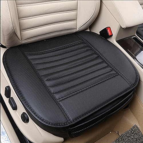 - Universal Car Interior Seat Cover Cushion Pad Mat MY'S Four Seasons- Breathable PU Leather- Bamboo Charcoal -Comfortable&health (Black)