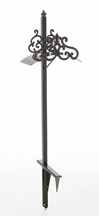 Liberty Garden Products 649 KD Hyde Park Decorative Metal Garden Hose Stand,  Holds 125