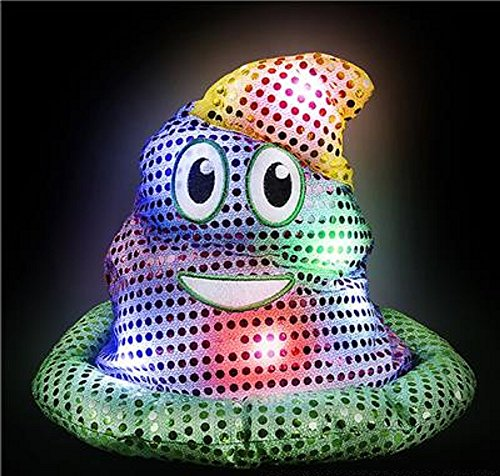 LIGHT UP MARDI GRAS POO HAT