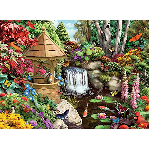 Bits and Pieces - 500 Piece Jigsaw Puzzle for Adults - Secret Garden - 500 pc Flowers, Birds, Animals Jigsaw by Artist Alan Giana (500 Piece Puzzles Birds)