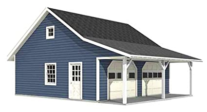 Garage Plans Roomy 2 Car Garage Plan With 6 ft Front Porch 676 – Plans For Two Car Garage