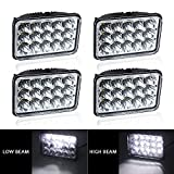 Automotive : LED Rectangular 4pcs 4x6 45W LED Sealed Beam Headlight H4651 H4652 H4656 H4666 H6545 For Freightliner/Kenworth/Peterbilt/International/Volvo/Sterling/Western Star Mack