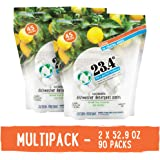 23.4° Life's perfect balance Dishwasher Detergent Pack Powdered, 2 Units, Citrus, 90Count