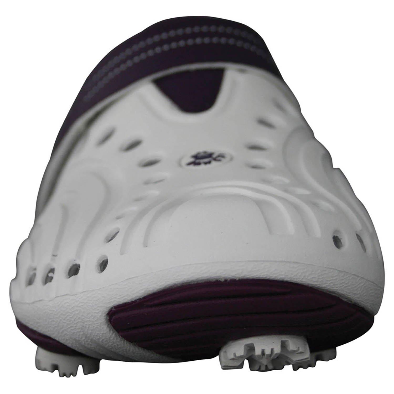 DAWGS Women's Golf Spirit Walking Shoe B004XOU8EW 7 B(M) US|White/Plum