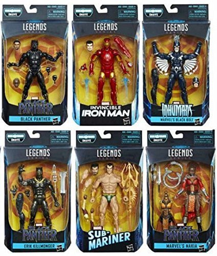 Black Panther Marvel Legends 6-Inch Action Figures Wave 1 Set