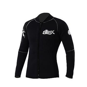 c9cb673548 Slinx 5mm Neoprene Diving Wetsuit Jacket for Women Men Surfing Windsurfing  Swimwear (Black
