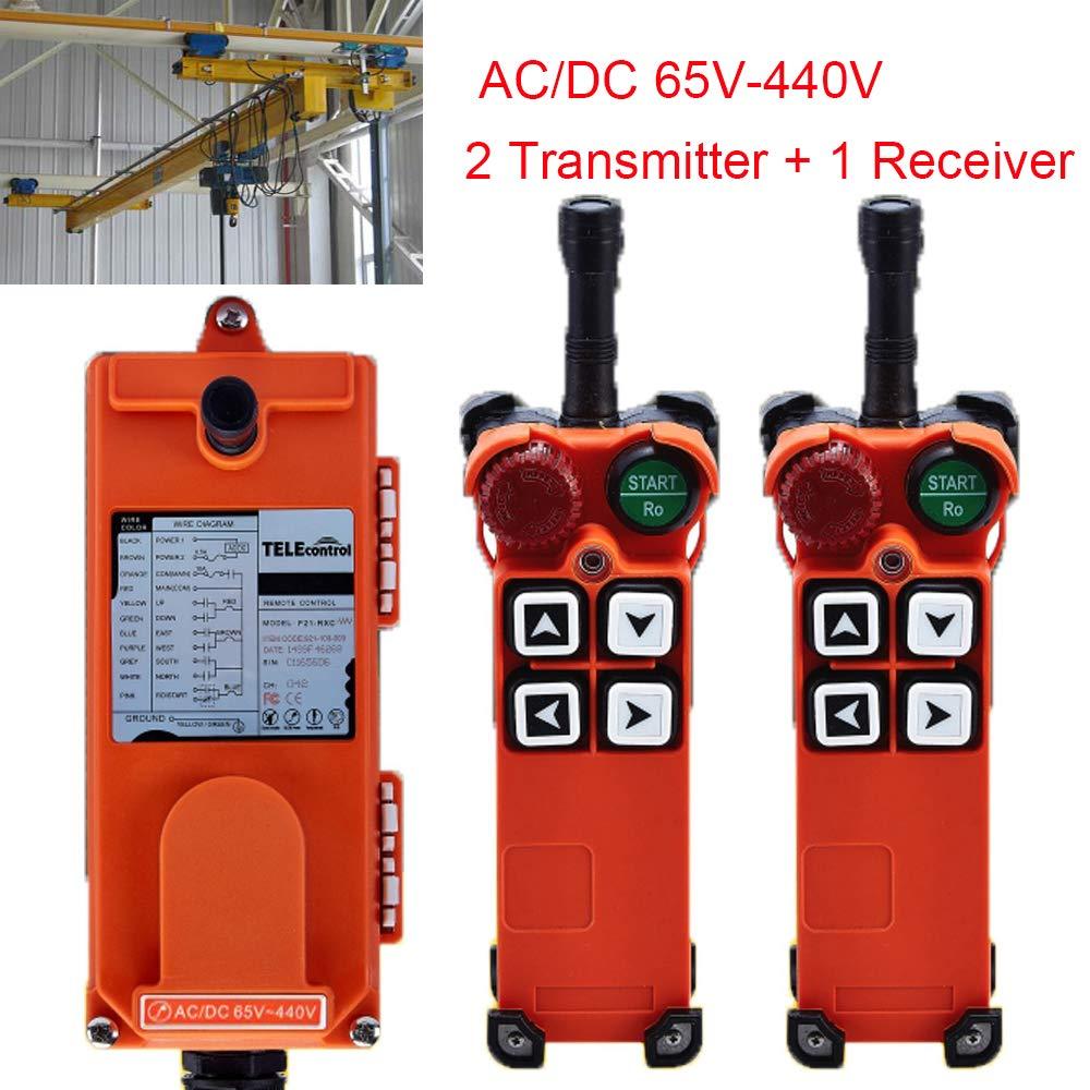 Industrial Hoist Crane Wireless Remote Control F21-4S AC/DC65V-440V(2 Transmitter + 1 Receiver) by TELEcontrol