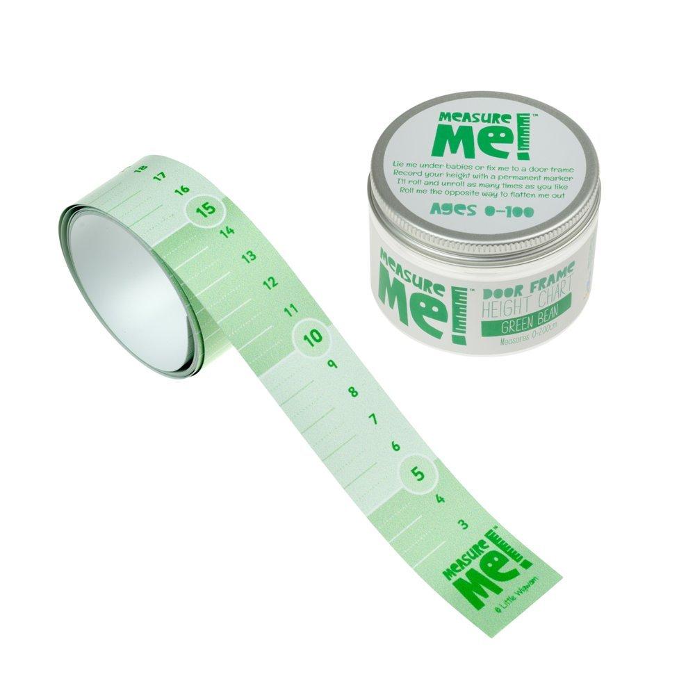 Measure Me! Roll-up Door Frame Height Chart for Kids - Green Bean Little Wigwam