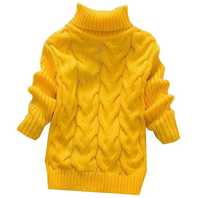BOZEVON Moda para Niña Niño Otoño Invierno de Cuello Alto suéter ...