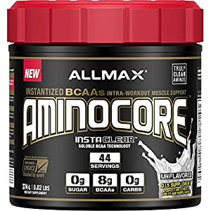 AllMax Aminocore Instantized BCAAs Unflavoured - 44 serve, Unflavoured, 374 Grams
