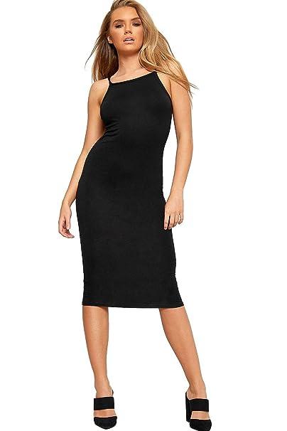 The Celebrity Fashion Womens Celeb 90s High Square Neck Cami Bodycon  Strappy Bralet Midi Party Dress  Amazon.co.uk  Clothing e084a36e5