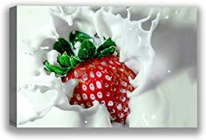 Funny Ugly Christmas Sweater Food Canvas Wall Art Tasty Strawberry Home Decor Prints 1 32