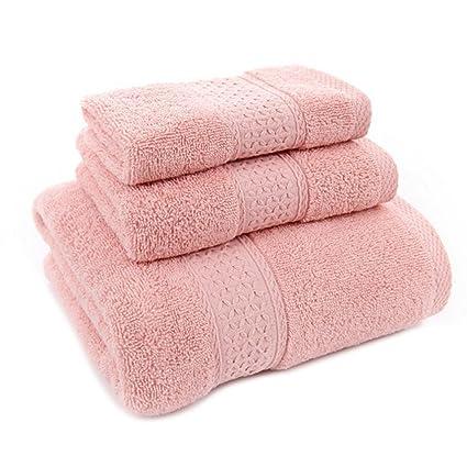KingNew - Juego de toallas de baño de algodón, supersuave, esponjosas y absorbentes,