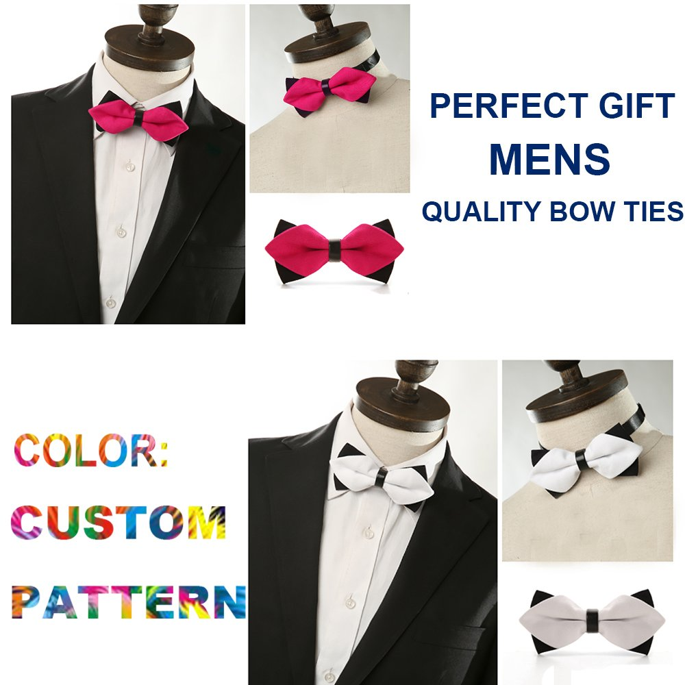 AMERICAN TANG Mens Silk Bowtie Gift Colorful Dragonfly Bow Ties