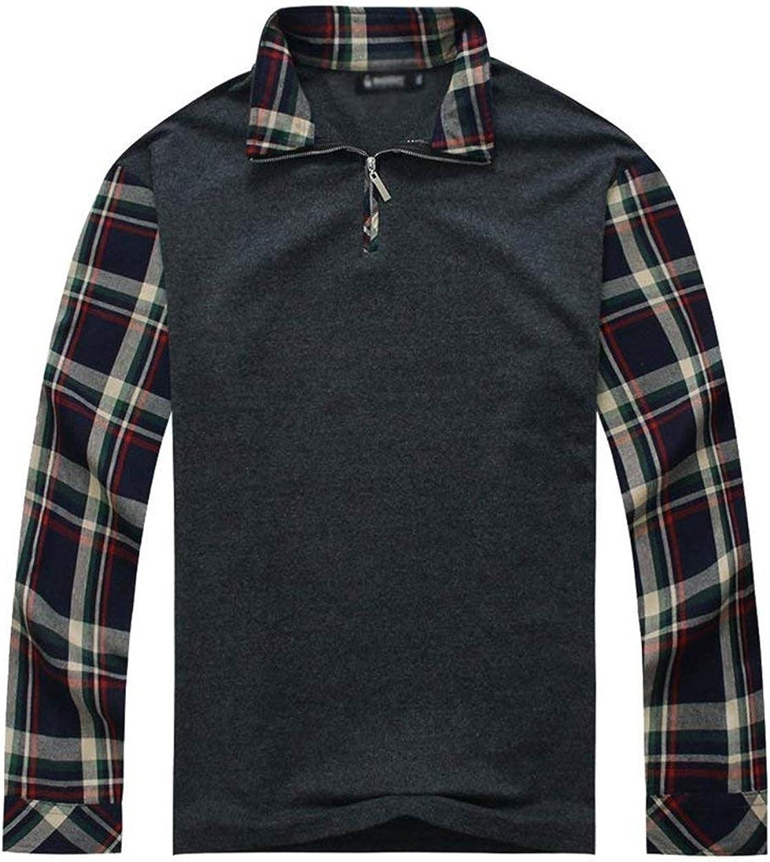 Camisa Polo De Los Hombres Camisa Polo En Contraste Originales Ropa De Manga Larga Camisa De Manga Larga Camisa A Cuadros XXL / 3XL / 4XL / 5XL / 6XL / 7XL: