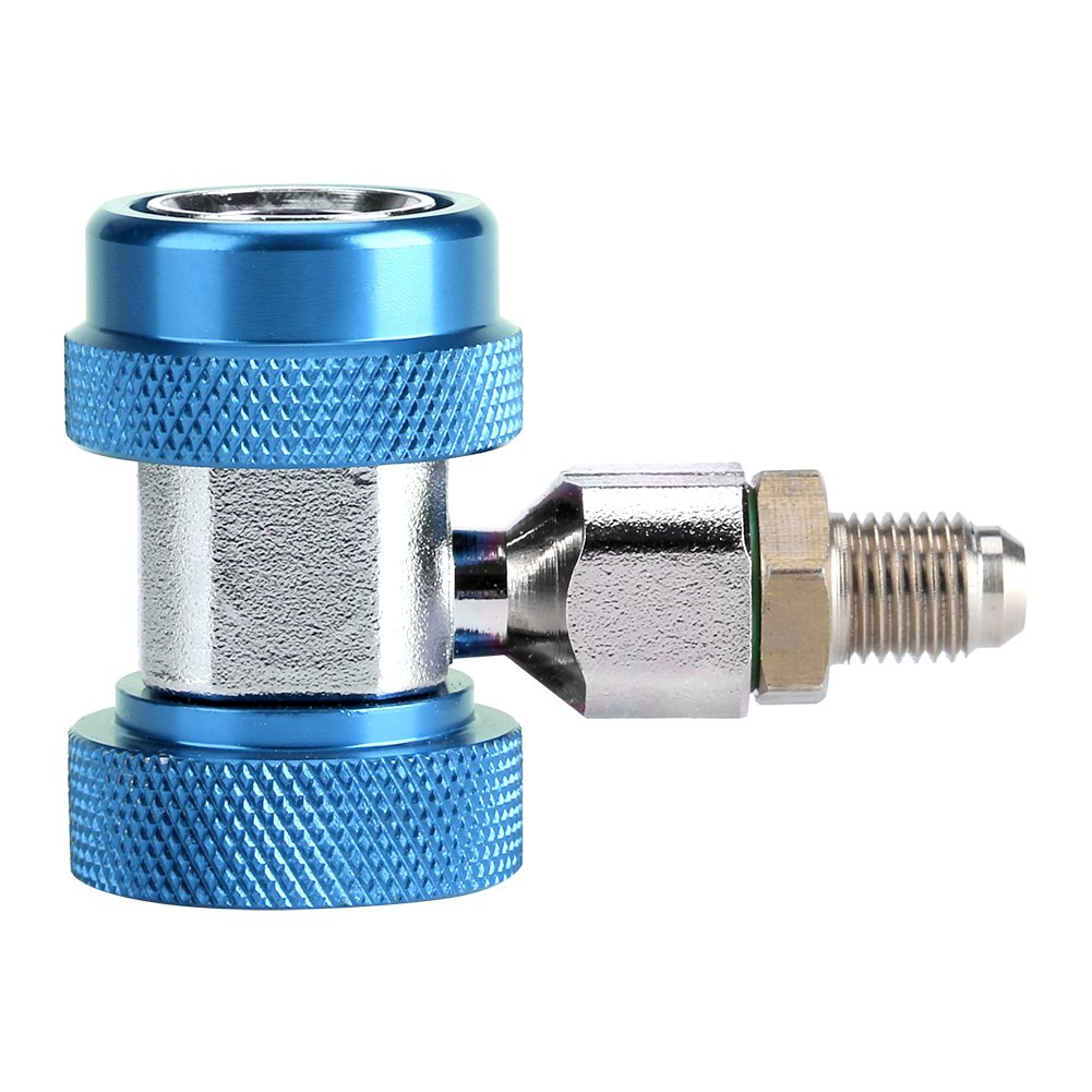 Blue R134 A//C Low//High Quick Connector Set Air Conditioning Joint Connector Adapter Extractor Valve Core High Low Gauge Hose Conversion kit