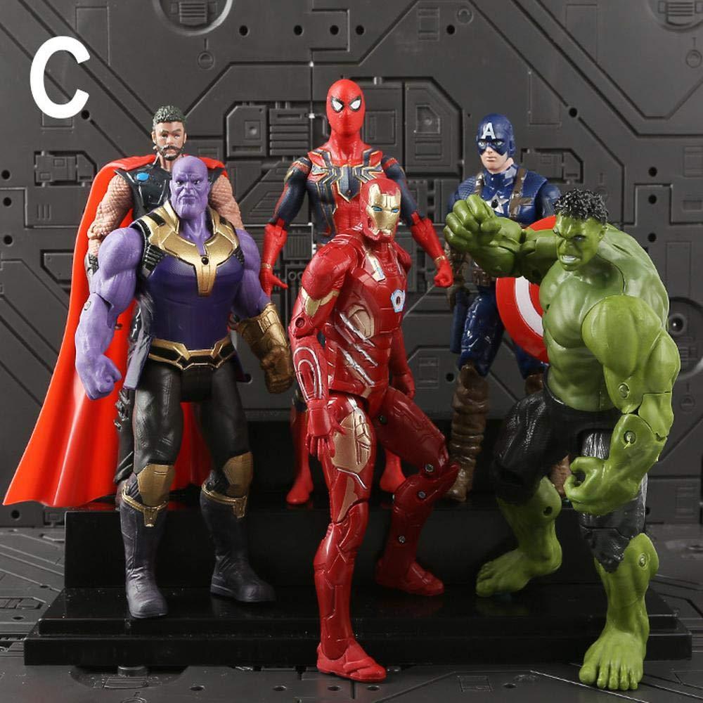 C Adwe Avengers 4 Tyrants Iron uomo Captain America Spideruomo cifra Giocattoli per Bambini Ornamento D