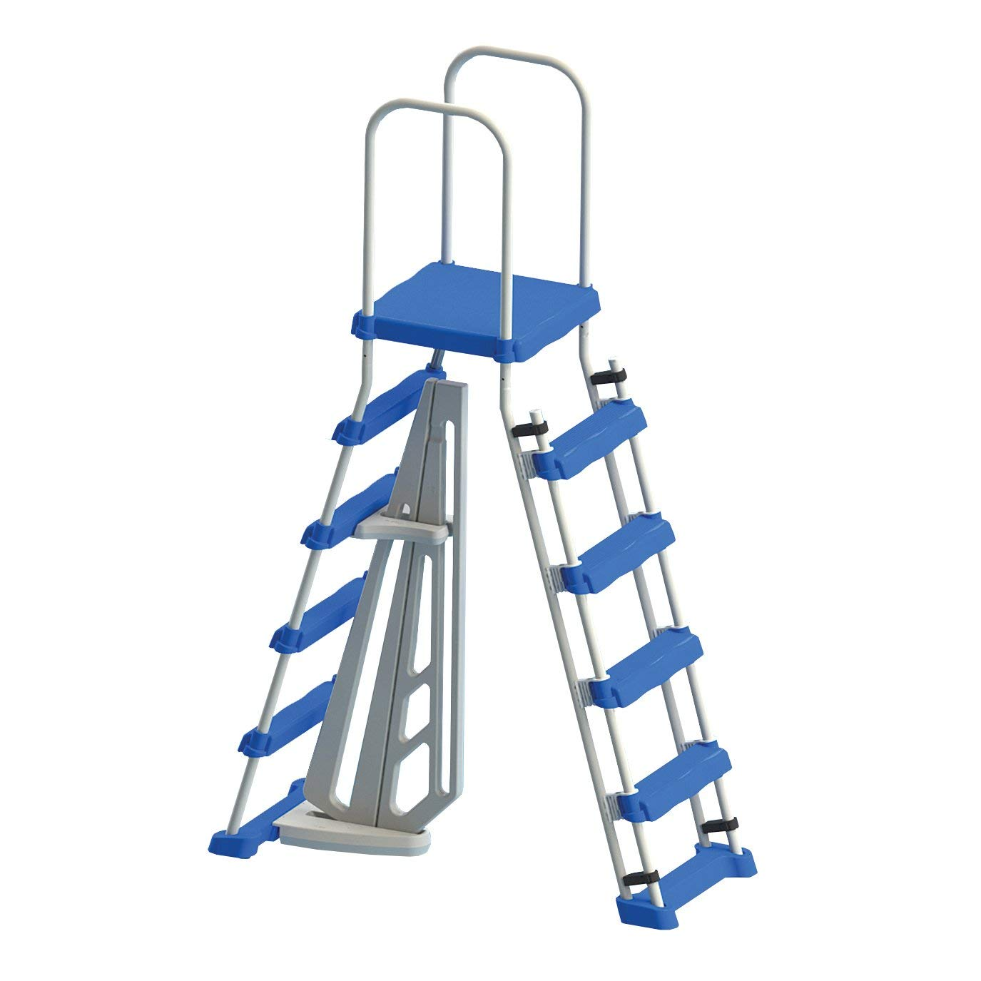Swimline Above Ground Pool A Frame Ladder with Barrier for 48 Inch Pools | 87950 by International Leisure