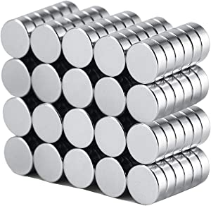 "Refrigerator Magnets, 120PCS Premium Fridge Magnets,Stainless Steel Round Magnets,Whiteboard Magnets,Office Magnets For Multi-Use,0.25""D x 0.1""H (6x2 mm)"