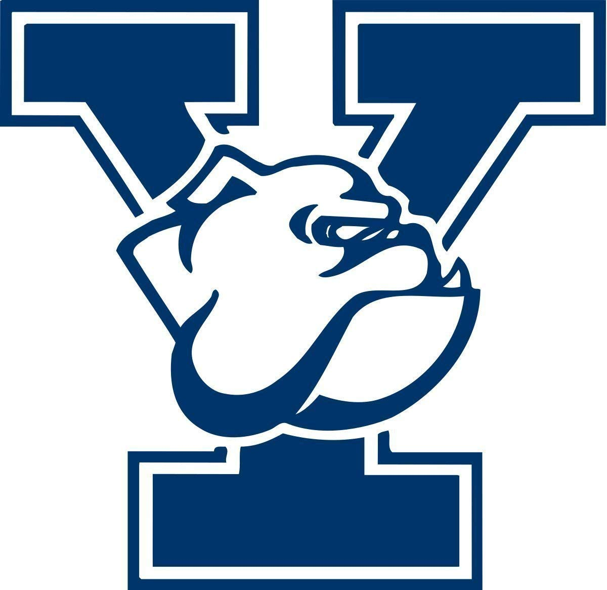 "Yale Bulldogs - Set of 2 or Single Premium Die-Cut 3"" Wide Vinyl Auto Decal or Laptops, Yeti, Gear, Best value"