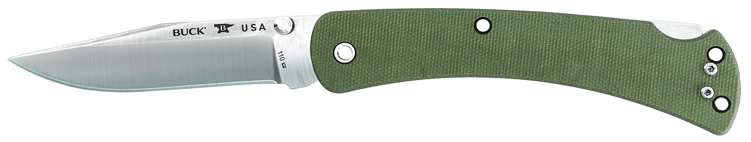 Buck Knives 110 Slim Pro Lockback Pocket Knife with Thumb Studs and Removable/Reversible Deep Carry Pocket Clip, 3-3/4'' S30V Blade by Buck Knives (Image #3)
