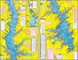 Topographical Fishing Map of Toledo Bend Reservior - With GPS Hotspots