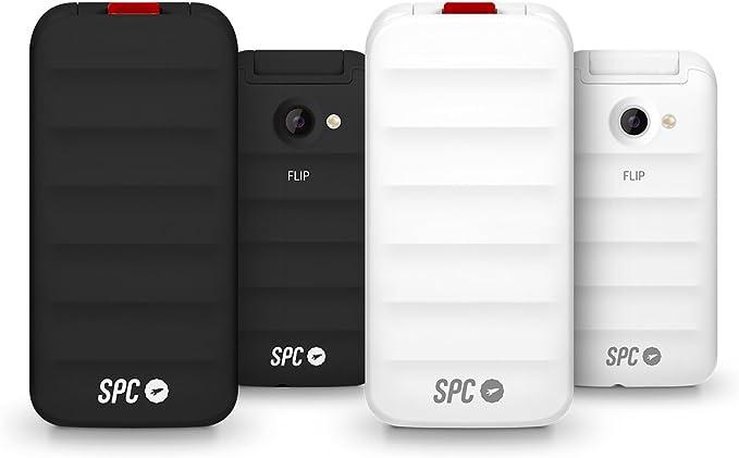 SPC Flip - Teléfono móvil (Dual SIM, Números y letras grandes, Agenda hasta 300 contactos, Bluetooth) – Color Blanco: Spc: Amazon.es: Electrónica