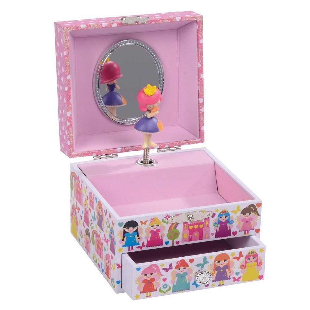 Fairy palace Musical Jewellery Box Think Pink 29P1710